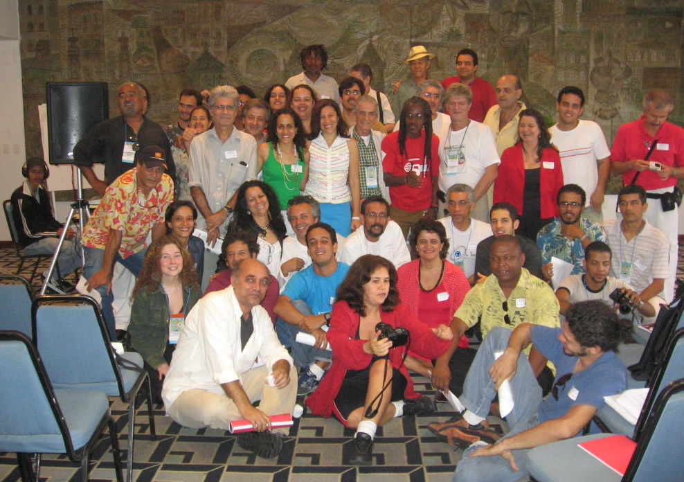 Encontro ABCV/ABD-Ba durante a 32ª Jornada de Cinema da Bahia. 11 set 2005 - Hotel da Bahia