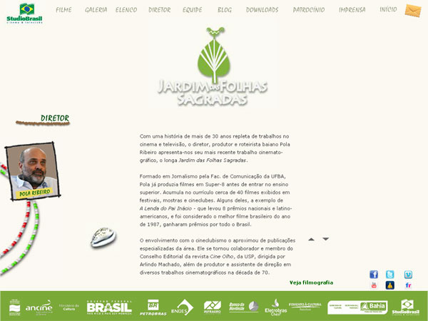 Website Jardim das Folhas Sagradas - Fausto Junior