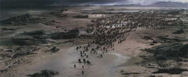 Cena do filme Êxodo - Deuses e Reis